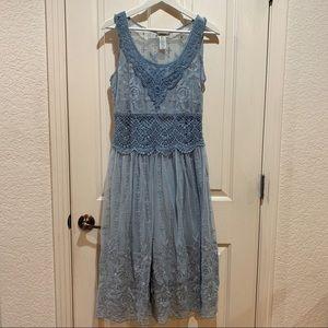 Sundance Crochet Lace Light Blue Dress Like New 2P